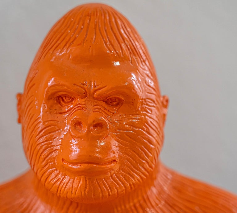 Buddha Gorilla - Brown Figurative Sculpture by Patrick Schumacher