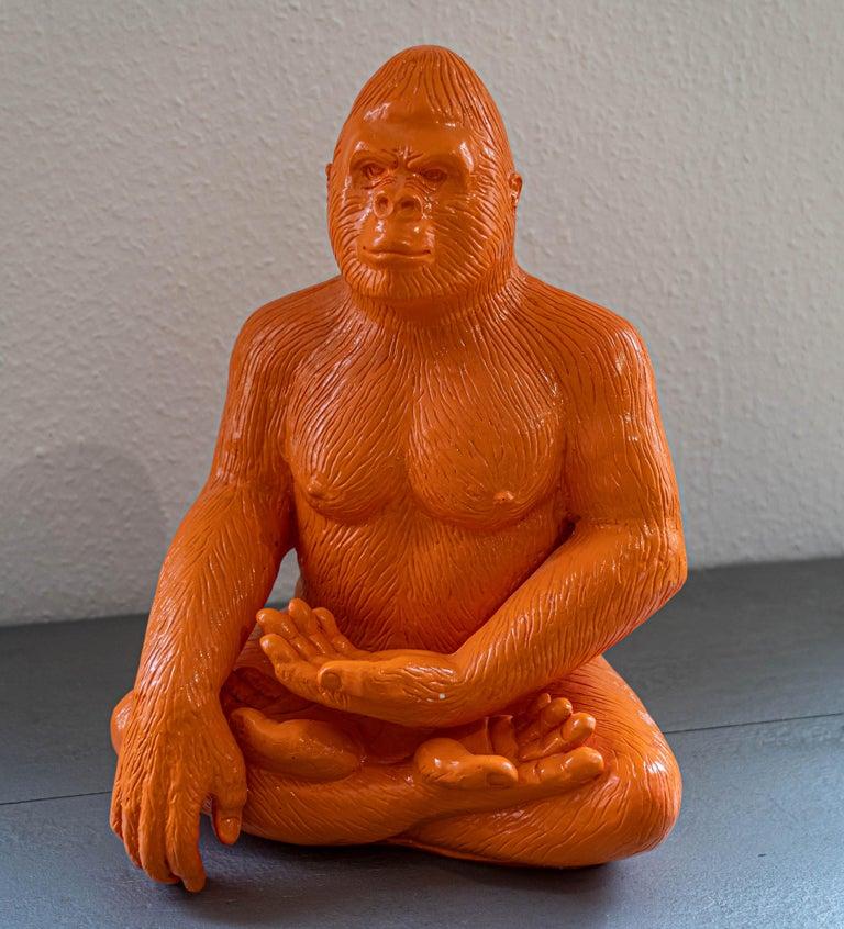Patrick Schumacher Figurative Sculpture - Buddha Gorilla