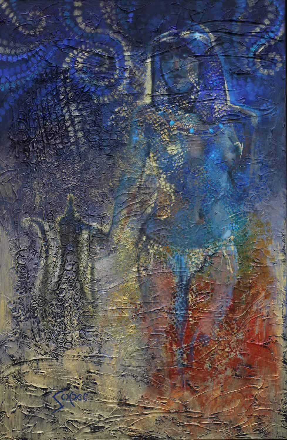 Blue Nile, Abstract Painting
