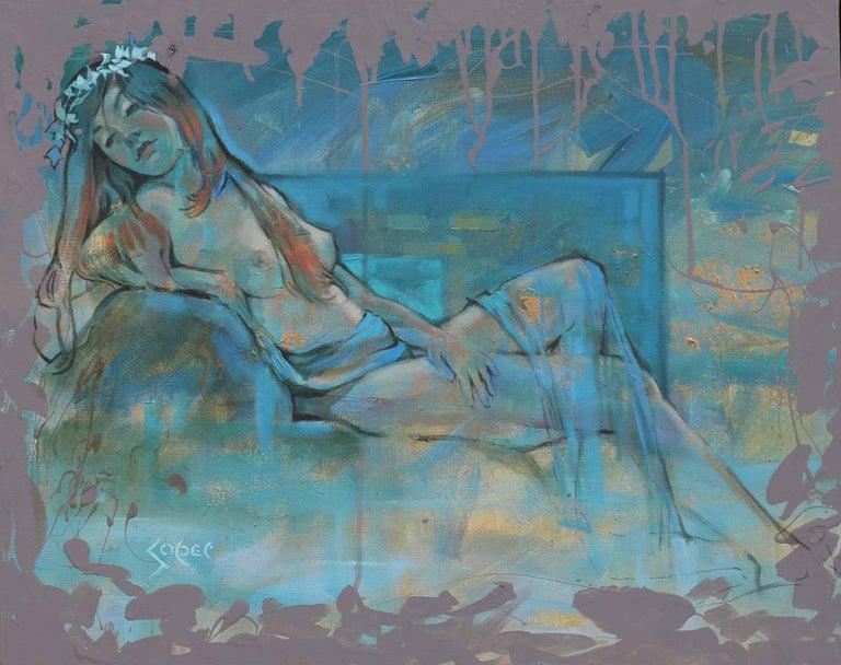 Turquoise Dreams, Original Painting - Mixed Media Art by Patrick Soper