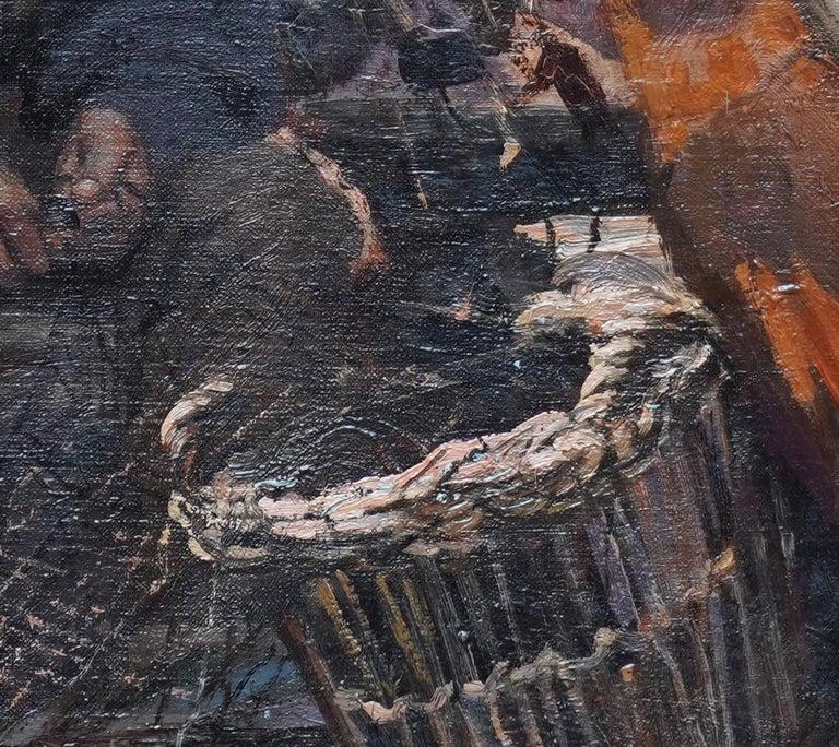 Fishermen Sailors at Sea - Scottish Victorian art marine portrait oil painting For Sale 1