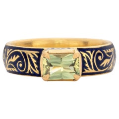 Patrika Ring with Australian Sapphire, 22 Karat Yellow Gold