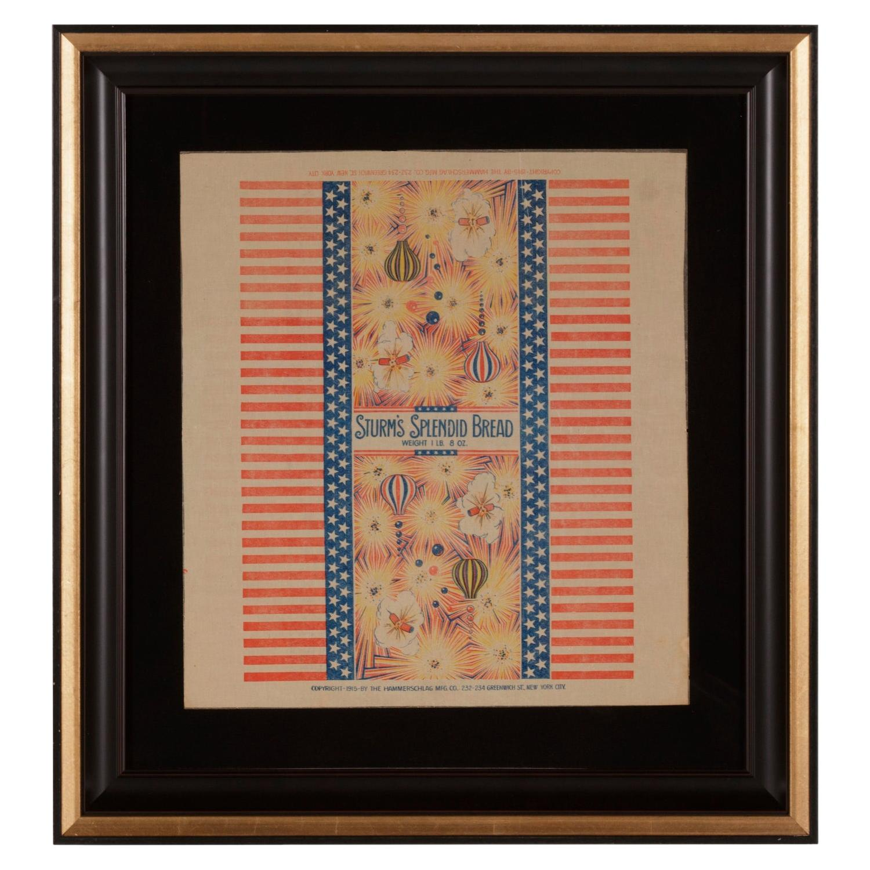Patriotic 4th of July Themed Sturm's Splendid Bread Wrapper