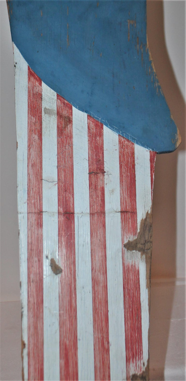 Patriotic Folky Uncle Sam, Garden Ornament For Sale 2