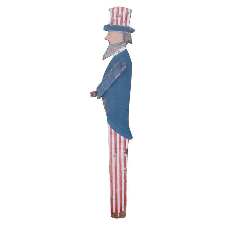 Patriotic Folky Uncle Sam, Garden Ornament For Sale