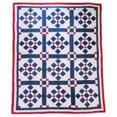 Patriotic Nine Patch Variation Quilt