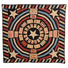 Patriotic Tobacco Flannels Quilt