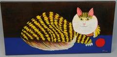 Contemporary Cheshire Cat Animal Acrylic Painting 2018