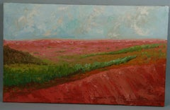 Impressionist French Sunset Landscape