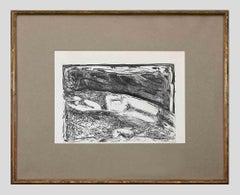 Woman nude - Original Etching by Patrizio Mercuri - 1970s