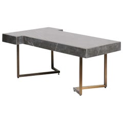 Patterson Black Marble Coffee Table Darryl Carter for Baker