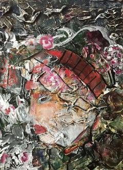Mrs. Flowerpot, Mixed Media on Canvas