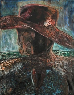 Cowboy Man, Painting, Oil on Canvas