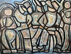 Shootin' the Breeze, Painting, Acrylic on Canvas