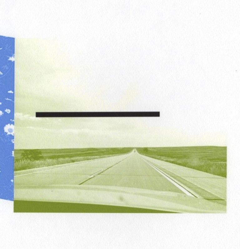 """Patty deGrandpre's """"Are We There Yet? (Colorado)"""" is a 5.5 x 14 inch unique abstract inkjet print represented on 11 x 16.5 inch Awagami Bamboo Japanese paper embracing both the art of digital printmaking, minimalism, and creative photography. A"""