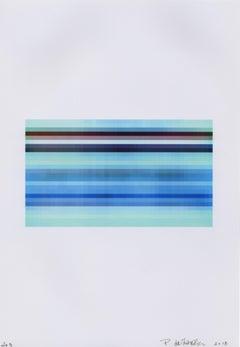 """Broken Television 203"", photo, digital print, abstract, blues, taupe"