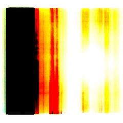 """Broken Television 301"", photo, digital print, abstract, black, red, yellow"