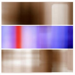"""""""Broken Television 323"""", digital print, abstract, red, blue, purple, sepia"""