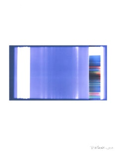 """Broken Television 9"", digital print, abstract, contemporary, blue, indigo"