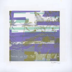 """Kauai, Tranquility"", Patty deGrandpre, abstract, landscape, lavender, green"