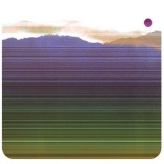 """Shows about Nature 3"", abstract, print, landscape, mountains, purples, greens"