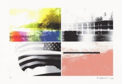 """""""Snapshot, The 50th State"""", abstract, print, landscape, Hawaii, flag, black"""