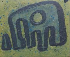 Chopin original abstract mixed media painting