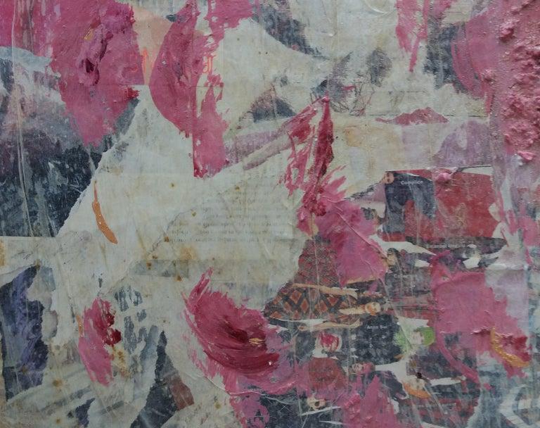Roses original contemporary mixed media painting.  Pau Alemany Mascareñas estudió la carrera de arquitectura, pero destacó sobre todo en el campo de la pintura. Formado con artistas como Guinovart, Ràfols Casamada y Serra de Rivera, estuvo influido