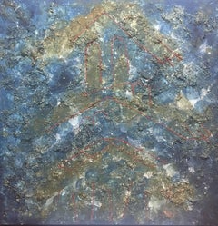 SKY. CONSTELLATION original abstract mixed media canvas painting