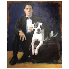 """Paul and Ranger,"" Oil on Canvas by Paul Richard"