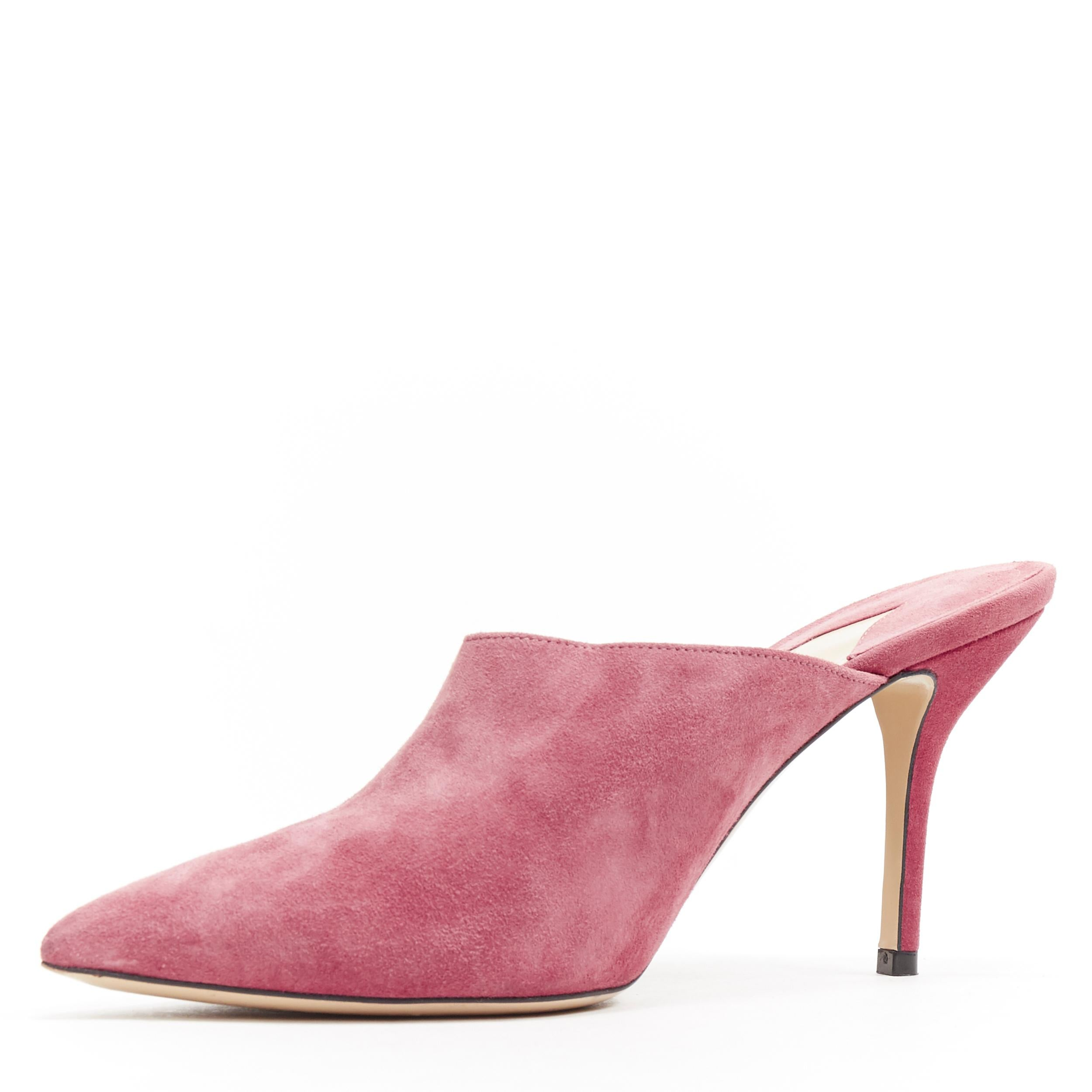 PAUL ANDREW blush pink suede leather
