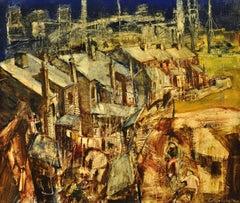 Hallam Fields.Stanton Ironworks.Paul Waplington.Original Landscape Painting.