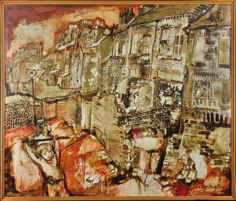 Lads Playing St Ann S Nottingham Original Painting Mod British Mid 20th Century