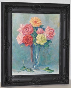 Paul Anton Schmitt Still Life Roses