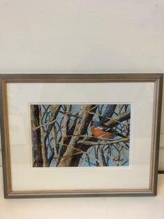 Paul Bartlett, Chaffinch, Bright Art, Rural Art, Landscape Art, Collage Art