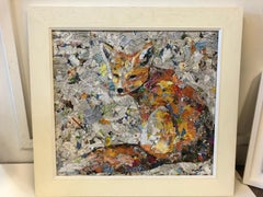 Paul Bartlett, Summer Fox, Animal Art, Bright Art, Conservation Art, Collage Art