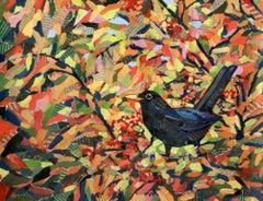 Autumn Blackbird, Paul Bartlett, Animal Prints, Nature Art