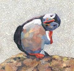Scratch BY PAUL BARTLETT, Limited Edition Print, Animal Art,Puffin Art, Bird Art