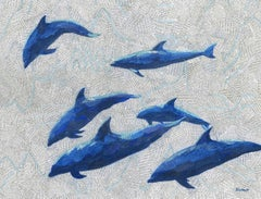 Whistlers BY PAUL BARTLETT, Animal Art, Limited Edition Print, Dolphin Art