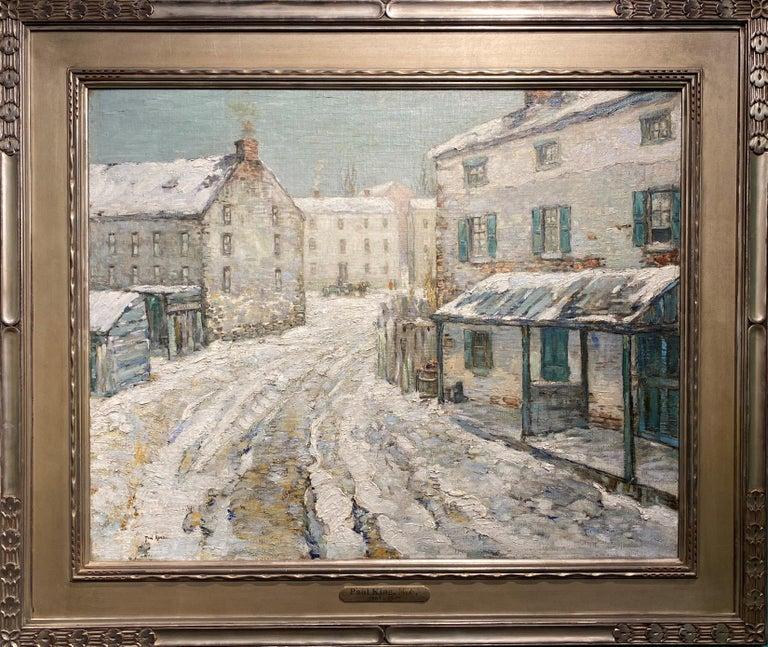 Paul Bernard King Landscape Painting - Bucks County Winter Landscape