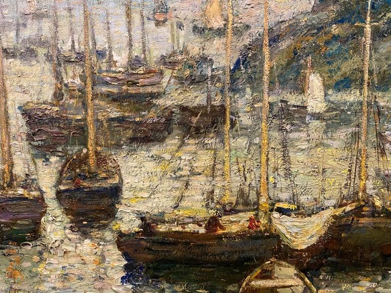 Coastal Harbor Scene With Boats 1