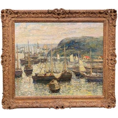 Coastal Harbor Scene With Boats
