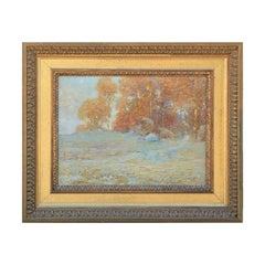 """Golden Autumn No.2"" Seasonal Landscape Painting"