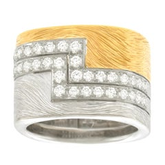 Paul Binder Diamond Set Gold Ring 18 Karat Swiss