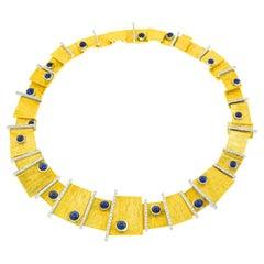 Paul Binder Sixties Modern Sapphire & Diamond-Set Necklace