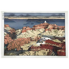 Paul Binnie Limited Edition Signed Japanese Woodblock Cloud Shadows Grand Canyon