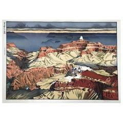 Paul Binnie Limited Edition Signed Japanese Woodblock Cloud Shadows Grand Canyon