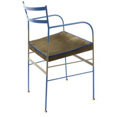 Paul Blu Oliva Chair Made in Italy