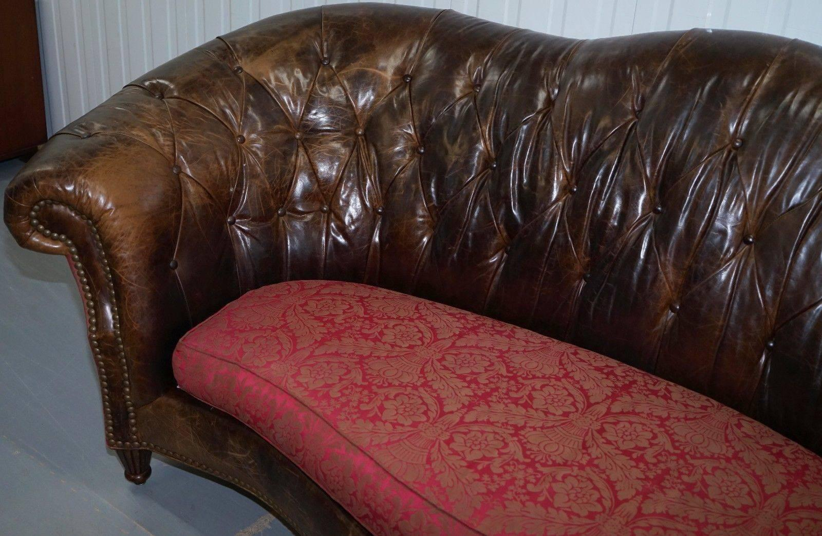 Paul Brock Heritage Leather Chesterfield Sofa Serpentine