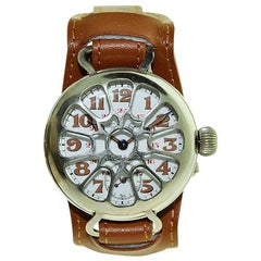 Paul Buhre by Ulysse Nardin Nickel Military Campaign Style Watch, circa 1910